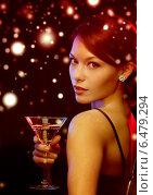 Купить «woman with cocktail», фото № 6479294, снято 12 декабря 2010 г. (c) Syda Productions / Фотобанк Лори