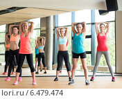 Купить «group of women working out in gym», фото № 6479474, снято 7 июня 2014 г. (c) Syda Productions / Фотобанк Лори