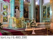 Купить «Санкт-Петербург, внутреннее убранство Казанского собора», эксклюзивное фото № 6480390, снято 7 ноября 2013 г. (c) Володина Ольга / Фотобанк Лори