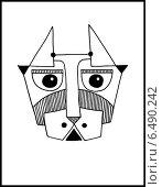 Купить «Абстрактная иллюстрация с головой собаки», иллюстрация № 6490242 (c) Олеся Каракоця / Фотобанк Лори