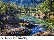 Саамское озеро в Карелии. Стоковое фото, фотограф Устименко Антон / Фотобанк Лори