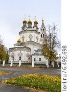 Купить «Троицкий собор, Верхотурье», фото № 6492698, снято 20 сентября 2014 г. (c) NataMint / Фотобанк Лори