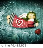 Купить «Рождественский декор, ангел», фото № 6495658, снято 2 января 2014 г. (c) ElenArt / Фотобанк Лори