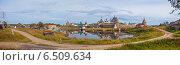 Купить «Соловки. Панорамный вид на Спасо-Преображенский Соловецкий монастырь», эксклюзивное фото № 6509634, снято 3 сентября 2014 г. (c) Литвяк Игорь / Фотобанк Лори