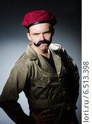 Купить «Funny soldier in military concept», фото № 6513398, снято 14 мая 2014 г. (c) Elnur / Фотобанк Лори