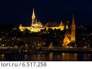Ночной Будапешт. Рыбацкий бастион (2014 год). Стоковое фото, фотограф Сластникова Татьяна / Фотобанк Лори