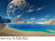 Купить «Абстрактные незнакомые планеты в глубоком космосе», иллюстрация № 6526022 (c) Parmenov Pavel / Фотобанк Лори