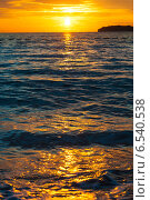 Закат на море. Стоковое фото, фотограф Татьяна Мирохина / Фотобанк Лори