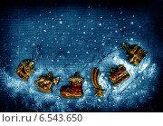 Купить «Рождественская декорация», фото № 6543650, снято 2 января 2014 г. (c) ElenArt / Фотобанк Лори