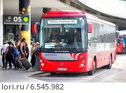 Купить «Irisbus Evadys», фото № 6545982, снято 24 июля 2014 г. (c) Art Konovalov / Фотобанк Лори
