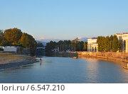 Купить «Река Сочи в районе Морского порта», фото № 6547210, снято 12 сентября 2014 г. (c) Александр Замараев / Фотобанк Лори