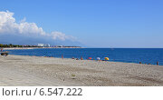 Купить «Пляж в Олимпийском парке Сочи», фото № 6547222, снято 13 сентября 2014 г. (c) Александр Замараев / Фотобанк Лори