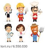 Успешные люди разных профессий. Стоковая иллюстрация, иллюстратор Viachaslau Vaitsenok / Фотобанк Лори