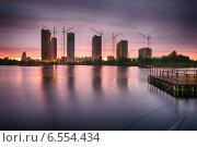 Закат в Купчино (2014 год). Стоковое фото, фотограф Александр Максимов / Фотобанк Лори