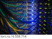 Купить «Interior of server with wires blue», фото № 6558714, снято 6 июня 2014 г. (c) Wavebreak Media / Фотобанк Лори