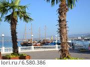 Пейзаж пасажирского порта, Геленджик (2014 год). Редакционное фото, фотограф Игорь Архипов / Фотобанк Лори