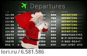 Купить «Santa delivering presents around the world», видеоролик № 6581586, снято 25 июня 2019 г. (c) Wavebreak Media / Фотобанк Лори