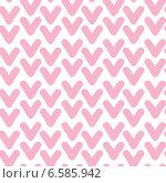 Бесшовный фон с розовыми галочками. Стоковая иллюстрация, иллюстратор Типляшина Евгения / Фотобанк Лори