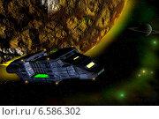 Космический дальнобойщик. Стоковая иллюстрация, иллюстратор Асия Абубакрова / Фотобанк Лори