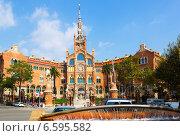 Купить «Hospital de la Santa Creu i Sant Pau in Barcelona», фото № 6595582, снято 13 сентября 2014 г. (c) Яков Филимонов / Фотобанк Лори