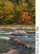 Купить «Горная река», фото № 6603786, снято 19 сентября 2014 г. (c) Максим Косарев / Фотобанк Лори
