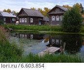 Деревенский пейзаж с прудом (2013 год). Стоковое фото, фотограф Виталий Федотов / Фотобанк Лори