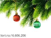 Купить «Christmas decoration isolated on the white», фото № 6606206, снято 27 августа 2011 г. (c) Elnur / Фотобанк Лори