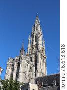 Купить «Кафедральный Собор Антверпенской Богоматери», фото № 6613618, снято 1 октября 2014 г. (c) Татьяна Крамаревская / Фотобанк Лори