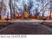 Купить «Памятник Петру I. Измайловский остров», фото № 6615810, снято 1 ноября 2014 г. (c) Павел Лиховицкий / Фотобанк Лори