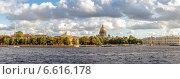 Санкт-Петербург, панорама Невы (2014 год). Стоковое фото, фотограф Анатолий Кузнецов / Фотобанк Лори
