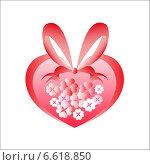 Сердце с цветами. Стоковая иллюстрация, иллюстратор Сергей Старкин / Фотобанк Лори