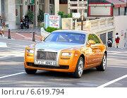 Купить «Rolls-Royce Ghost», фото № 6619794, снято 2 августа 2014 г. (c) Art Konovalov / Фотобанк Лори