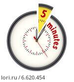 Купить «Интервал времени 5 минут (5 minutes). Часы с надписью», иллюстрация № 6620454 (c) WalDeMarus / Фотобанк Лори