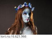 Купить «Эмилия, девушка в художественном гриме, хэллоуин», фото № 6621966, снято 17 октября 2014 г. (c) Смирнова Лидия / Фотобанк Лори