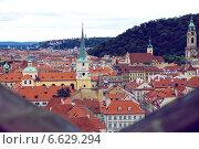 Прага: крыши города (2009 год). Стоковое фото, фотограф Виноградова Вероника / Фотобанк Лори
