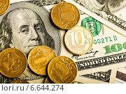 Купить «Российские рубли и доллары США», фото № 6644274, снято 7 ноября 2014 г. (c) Валерия Потапова / Фотобанк Лори