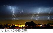 Купить «Ночная гроза», фото № 6646590, снято 3 сентября 2013 г. (c) Шумилов Владимир / Фотобанк Лори