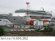 """Купить «Круизный лайнер """"Legend of Seas"""" в морском порту Владивостока», эксклюзивное фото № 6650262, снято 3 сентября 2012 г. (c) Алексей Гусев / Фотобанк Лори"""