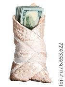 Купить «Пачка стодолларовых банкнот в одеяле младенца», фото № 6653622, снято 12 марта 2014 г. (c) Владимир Мельников / Фотобанк Лори
