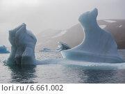 Купить «Айсберги необычной формы у берега Земли Франца-Иосифа в Северном Ледовитом океане», фото № 6661002, снято 9 августа 2013 г. (c) Николай Гернет / Фотобанк Лори