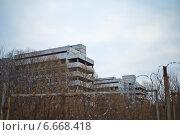 Купить «Ховринская больница за забором», фото № 6668418, снято 16 ноября 2014 г. (c) Василий Аксюченко / Фотобанк Лори