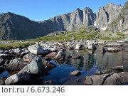 Озеро в горах Баргузинского хребта, Байкал. Стоковое фото, фотограф Пыткина Альбина / Фотобанк Лори
