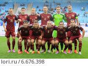 Купить «Сборная России по футболу», фото № 6676398, снято 3 сентября 2014 г. (c) Alexander Nesterov / Фотобанк Лори