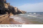 Купить «Прибой на Азовском море», фото № 6679582, снято 17 августа 2018 г. (c) Светлана / Фотобанк Лори