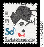 Чарльз (Чарли) Чаплин. Почтовая марка Чехословакии. Стоковое фото, фотограф Александр Щепин / Фотобанк Лори