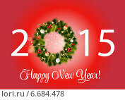 Купить «Abstract Beauty 2015 New Year Background. Vector Illustration», фото № 6684478, снято 23 сентября 2018 г. (c) Юлия Гапеенко / Фотобанк Лори