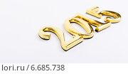Купить «Золотые цифры  2015 на светлом фоне», фото № 6685738, снято 28 июня 2012 г. (c) Владимир Ковальчук / Фотобанк Лори