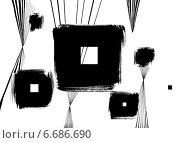 Абстрактный фон квадраты. Стоковая иллюстрация, иллюстратор Борисенко Анастасия / Фотобанк Лори