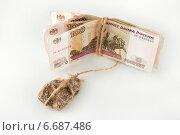 Купить «Падение рубля. Экономический кризис. Бремя денег», фото № 6687486, снято 20 ноября 2014 г. (c) Ирина Геращенко / Фотобанк Лори
