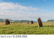 Купить «Древние могильные камни. Хакасия, Сибирь, Россия», фото № 6694066, снято 13 июня 2014 г. (c) Вячеслав Зеленин / Фотобанк Лори